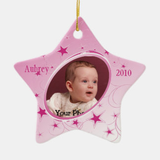 Holiday All Star Photo/Pink Ceramic Star Decoration
