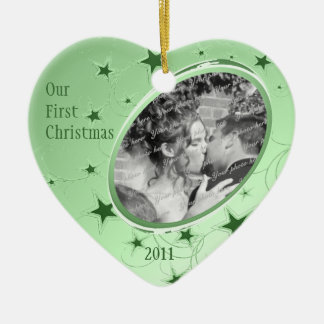 Holiday All Stars Photo/ Green Christmas Ornaments