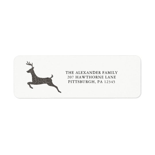 Holiday and Christmas Stylish Deer Return Labels