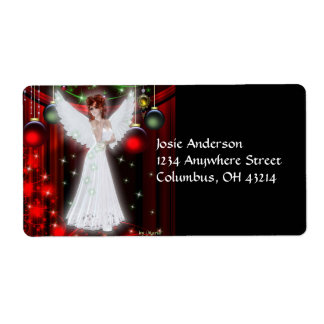 Holiday Angel Christmas Address Labels