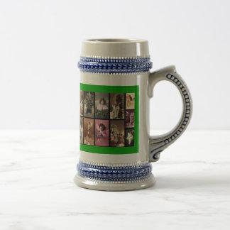 Holiday Angels Green Mug - Customizable Mugs