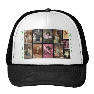 Holiday Angels Hat Green I - Customizable