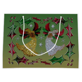 Holiday Angels Holly Large Gift Bag