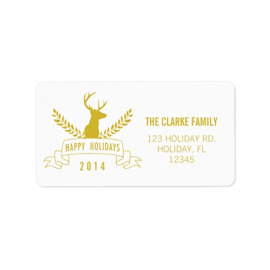Holiday Antlers | Holiday Address Label