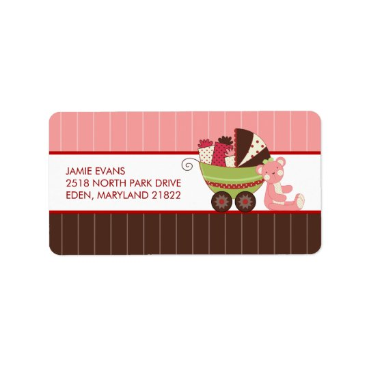 Holiday Baby Shower Address Mailing Labels