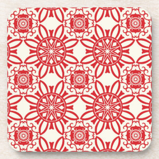 Holiday Backdrop Pattern Coaster