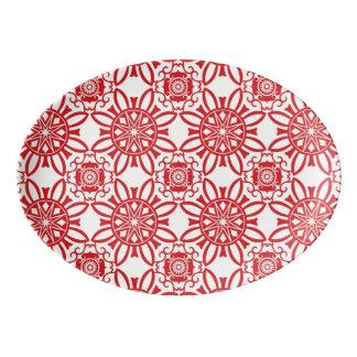 Holiday Backdrop Pattern Porcelain Serving Platter
