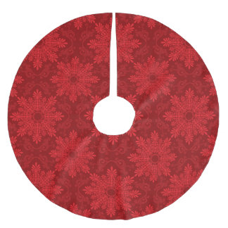 Holiday Background Brushed Polyester Tree Skirt