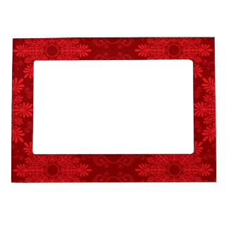 Holiday Background Magnetic Picture Frame