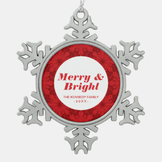 Holiday Background Snowflake Pewter Christmas Ornament