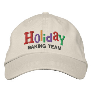 Holiday Baking Team Embroidery Hat Embroidered Baseball Cap