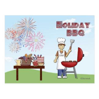 Holiday BBQ Invitation Postcard