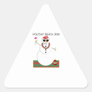 Holiday Beach Bum Triangle Sticker