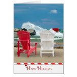 Holiday Beach Chairs Greeting Card