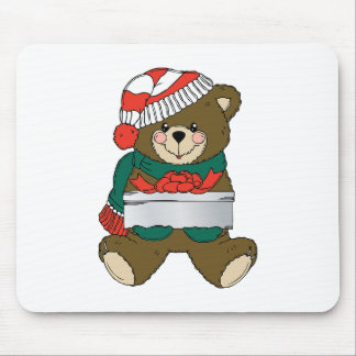 Holiday Bear Winter Stocking Destiny Gifts Mouse Pad