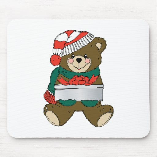 Holiday Bear Winter Stocking Destiny Gifts Mouse Pads