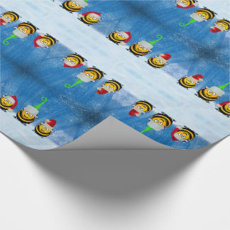 Holiday Bee Elves at the North Pole Christmas Wrapping Paper