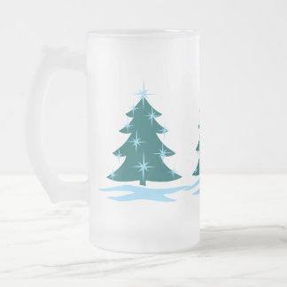 Holiday Beer Mug Festive ChristmasTree Beer Glass