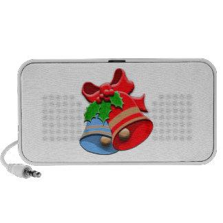 Holiday Bells Christmas Laptop Speakers