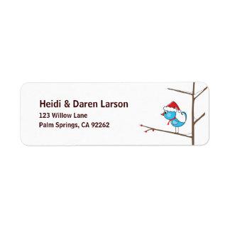 Holiday Bird Return Address Label