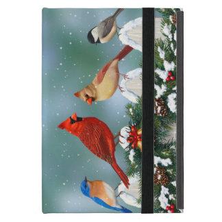 Holiday Birds & Christmas Garland Cover For iPad Mini