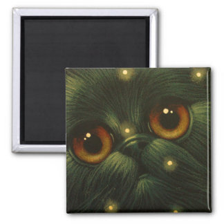 HOLIDAY BLACK PERSIAN CAT Magnet