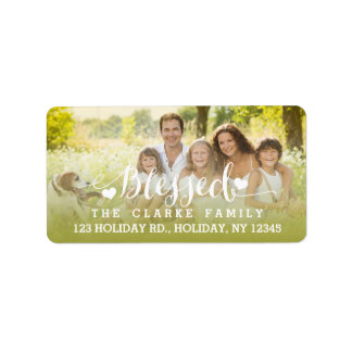 Holiday Blessings | Holiday Photo Address Label
