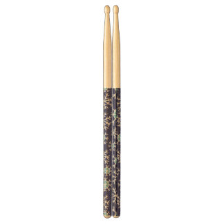 Holiday Blue Snowflakes Pattern Drumsticks
