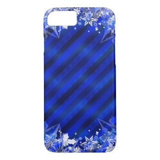 Holiday Blue Wrapping & Snowflakes iPhone 7 Case