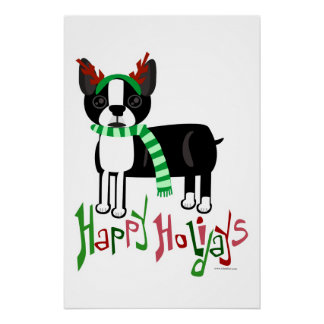 Holiday Boston Terrier