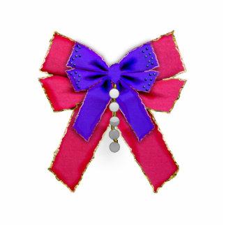 holiday bow photo cutout