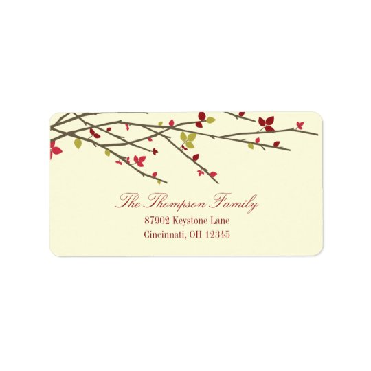 Holiday Branches Holiday Address Label