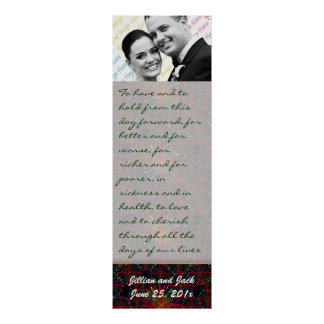 Holiday Bright Pattern WEDDING Vows Display Print