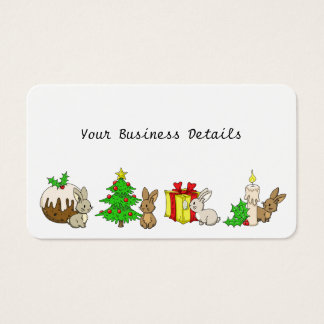 Holiday Bunnies Business Card