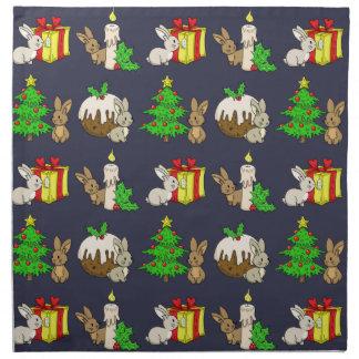 Holiday Bunnies Napkin