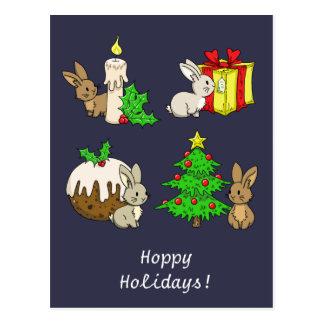 Holiday Bunnies Postcard