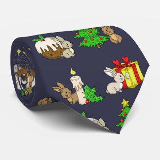 Holiday Bunnies Tie