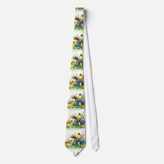 Holiday Bunny & Spring Chicks Easter Tie