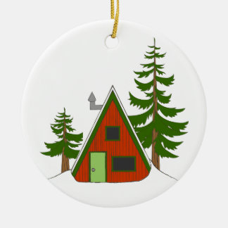 Holiday Cabin: 'Tis the Season to be Cozy Round Ceramic Decoration