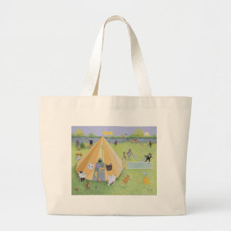 Holiday Camp Large Tote Bag