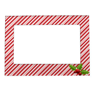 Holiday Candy Cane Striped Picture Frame