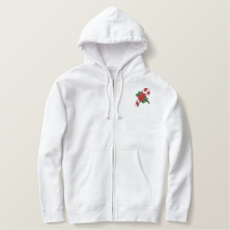 Holiday Candycane Embroidered Hoodies