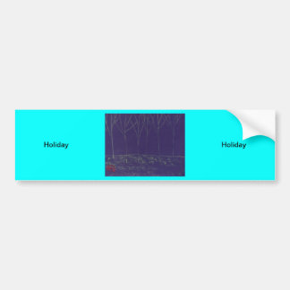 Holiday Car Bumper Sticker