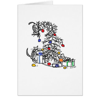 Holiday Card - Kittens vs Christmas Tree