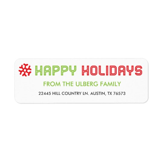 Holiday Card Return Address Labels