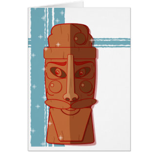 "Holiday card - ""Santa Tiki-Baby"""