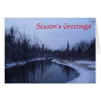 Holiday Card - Winter River