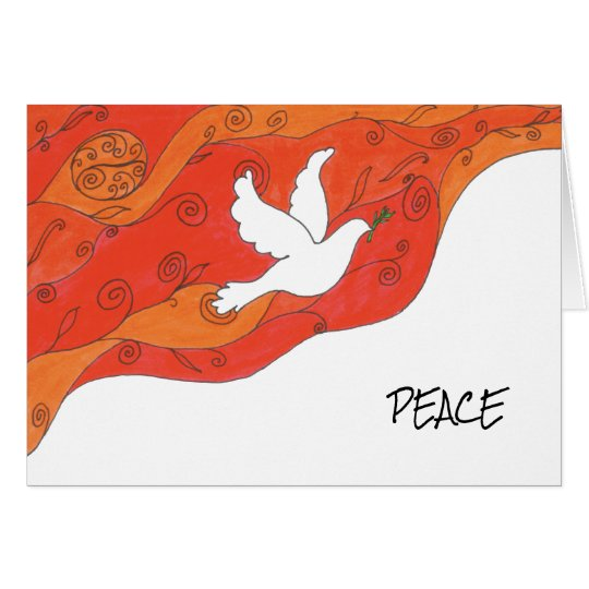 Holiday card with dove of Peace