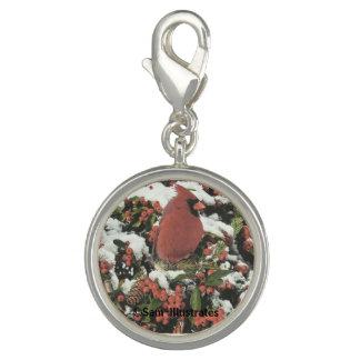 Holiday Cardinal Charm Bracelet Charm