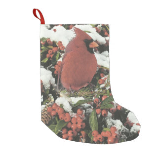 Holiday Cardinal Christmas Stocking